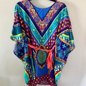 Flying Tomato Pieced Kaftan Boho Tunic